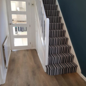 Amtico and Staircase Carpet