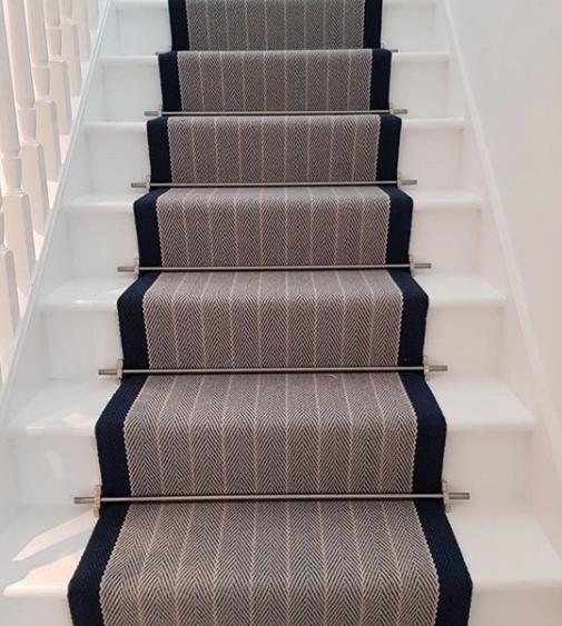 Striped Stair Carpet in Cambridgeshire