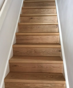 Quick-Step hardwood flooring on stairs