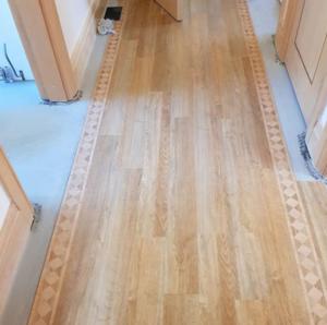 Amtico flooring with border